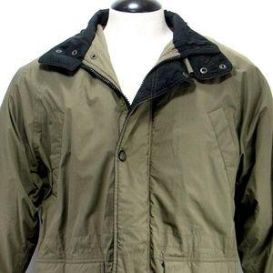 William Barry Field Jacket Snap Button & Zip Sz M